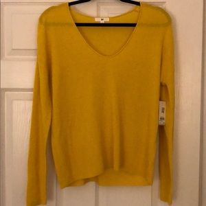 BP Light-Knit Long-sleeve Yellow Top
